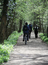 The Peregrine path runs for 3 traffic free miles and is suitable for walkers and cyclists.