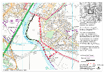 Map of Footpath Closure, Monmouth
